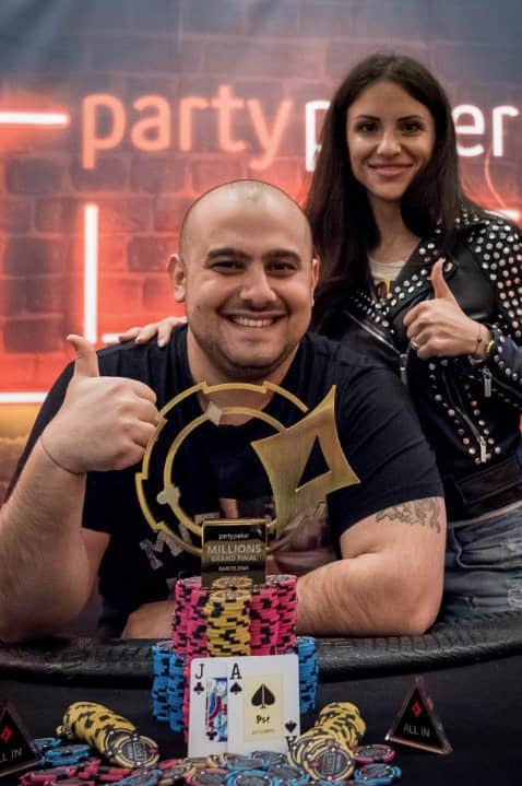 Fahredin Mustafov赢得 2018 partypoker线下百万赛事终极决赛桌巴塞罗那站豪客赛冠军