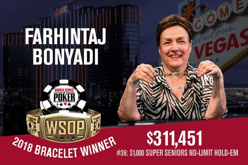 策略文章:2018 WSOP女冠军诞生,Farhintaj Bonyadi赢得第36项赛事冠军