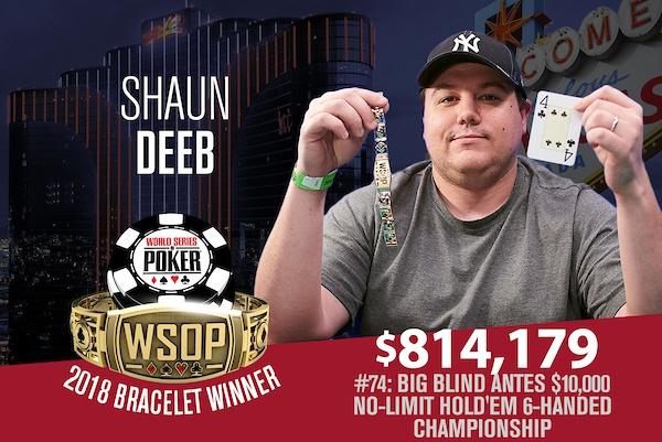 蜗牛扑克:Shaun Deeb赢得今年夏个人的第二条WSOP金手链