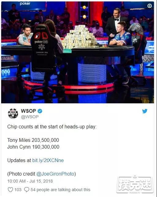 蜗牛扑克:2018WSOP最难忘的事!