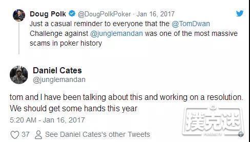 """蜗牛扑克:据说""""Durrrr挑战""""要黄 好奇Dwan究竟花了多少钱从Dan Cates手里把事摆平了"""