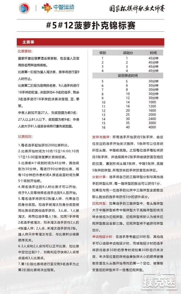 蜗牛扑克:国家杯中信第一城站赛程公布|主赛保底500w 边赛繁花似锦