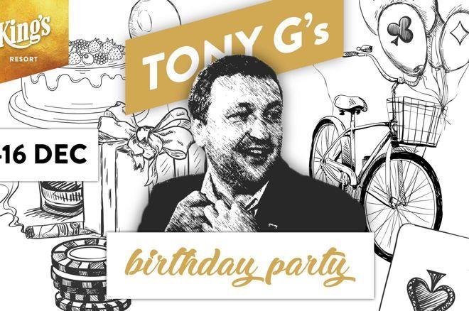 蜗牛扑克:Tony G将在帝王赌场举办个人€200K PLO生日赛!