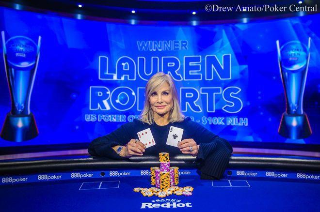 蜗牛扑克:Lauren Roberts赢得美国扑克公开赛第三项赛事,000 NLH冠军!