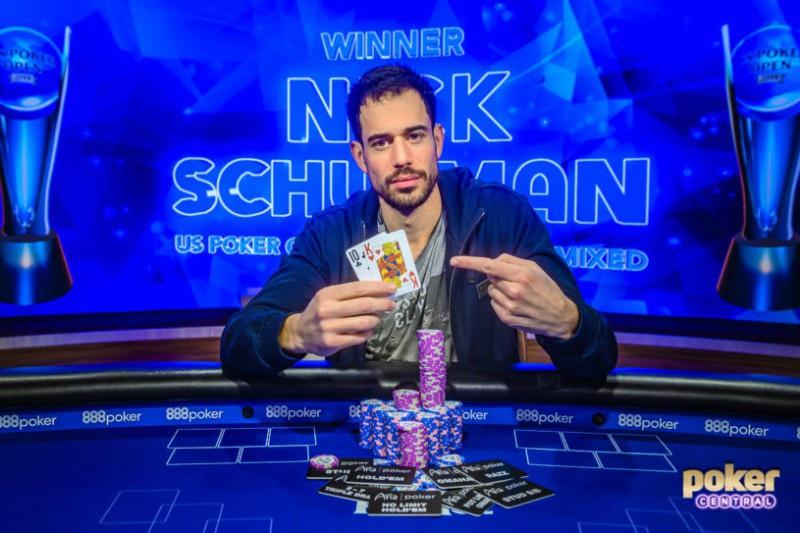 蜗牛扑克:Nick Schulman赢得2019 USPO ,000八项混合锦标赛冠军