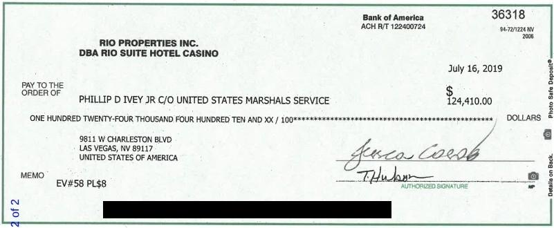 【蜗牛扑克】Phil Ivey & 百家塔案件最新进展:百家塔成功扣押Ivey的PPC奖金