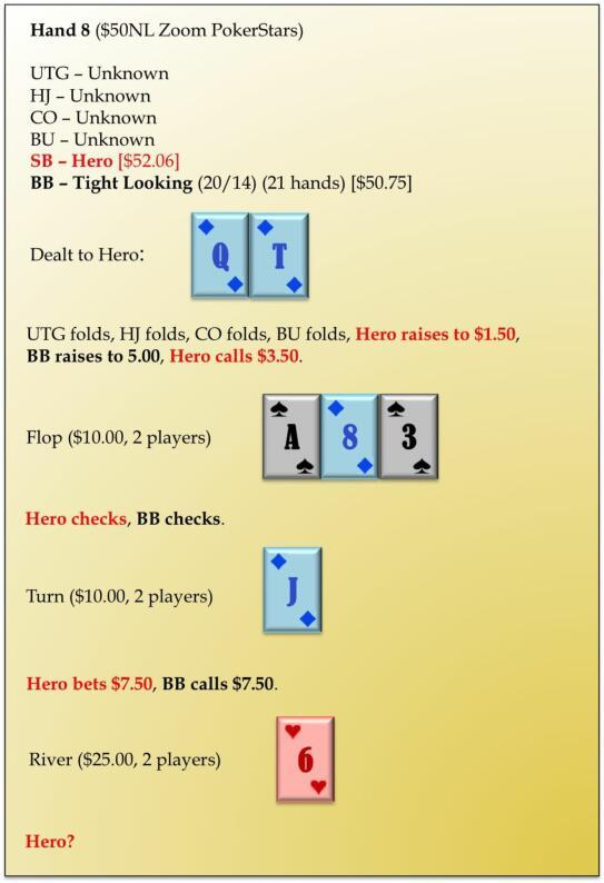 【蜗牛扑克】六人桌常规局典型牌例100手-8