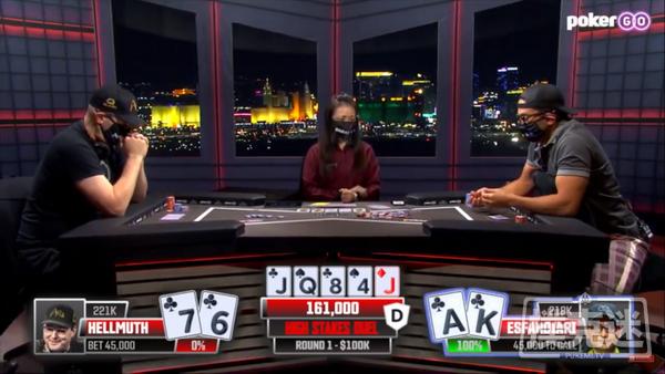 """蜗牛扑克:Phil Hellmuth的新单挑节目中击败了""""魔术师"""""""