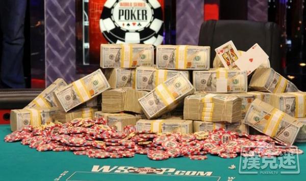 蜗牛扑克:WSOP主赛事打破了2500万的保证金,冠军将独享390万美元