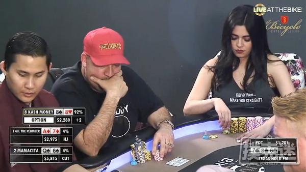 【蜗牛扑克】葫芦扮弱,引诱对手全下诈唬 |德州扑克牌局解析