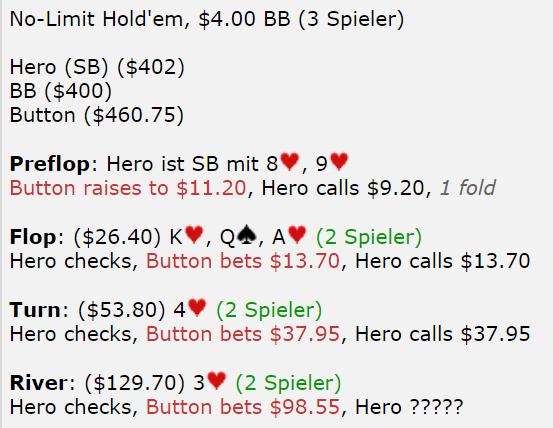 【蜗牛扑克】德州扑克我在河牌圈应该弃牌还是跟注?