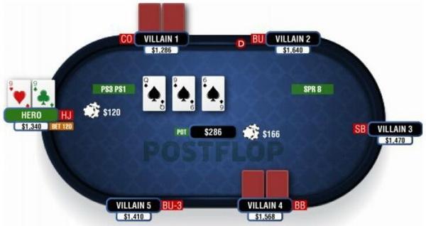 【蜗牛扑克】德州扑克在湿润公共牌面游戏暗三条