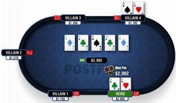 【蜗牛扑克】德州扑克翻牌圈击中葫芦或四条-2