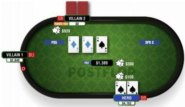 【蜗牛扑克】德州扑克由顶对和翻牌面对子构成的两对-2