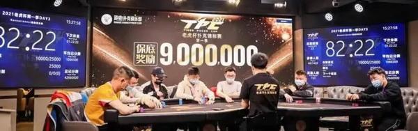 蜗牛扑克:2021 TPC老虎杯 | 主赛事第三轮26人晋级,林思丞以460w记分量领先!