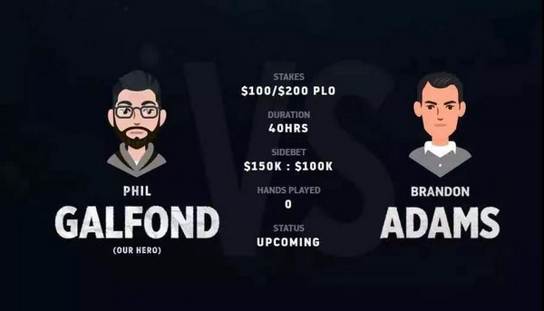 蜗牛扑克:Galfond VS Adams单挑赛将在本月底开战