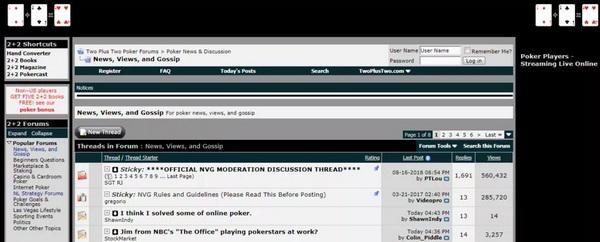 蜗牛扑克:2+2扑克论坛已被出售
