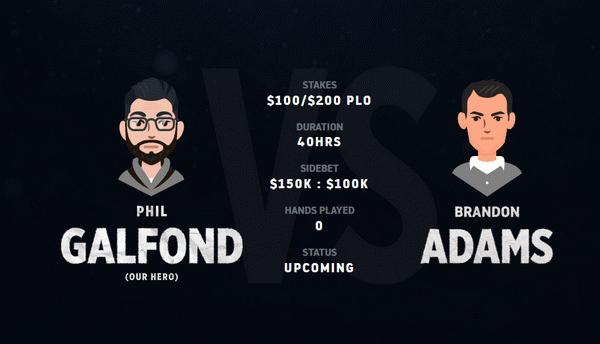 蜗牛扑克:Galfond挑战赛即将开打Adams能否结束他的连胜