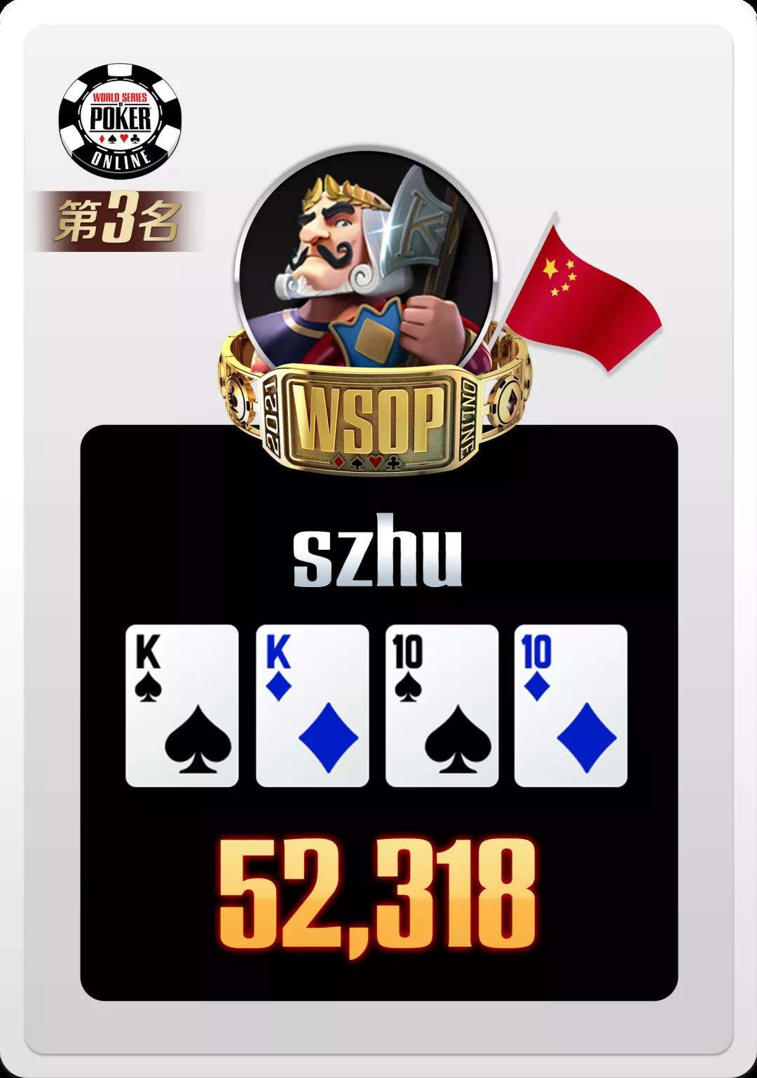 【蜗牛扑克】中国大神Limy和Feng Chen共战WSOP!冠军金手链靠自己赢来 决赛桌4颗人头直接入袋