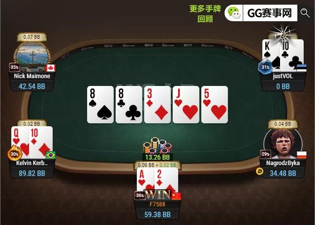 【蜗牛扑克】知名WSOP金手链国人得主回归!专业人头收割机 奖池突破160W 一起为中国选手加油!