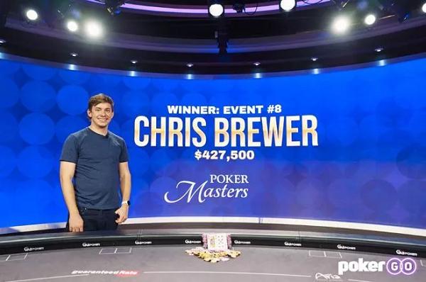 蜗牛扑克:Chris Brewer崭露头角 获得扑克大师赛赛事#8冠军