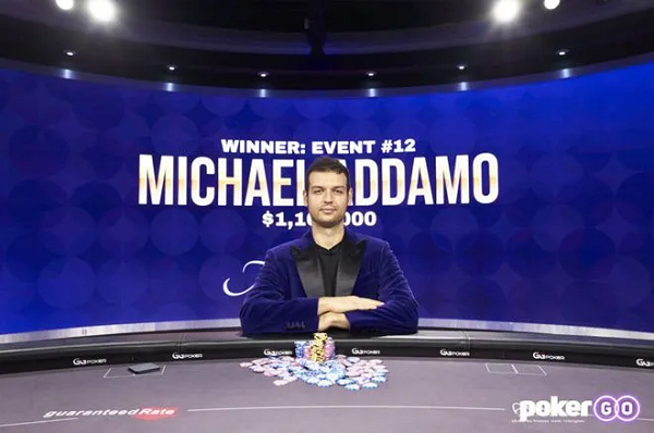 蜗牛扑克:Michael Addamo赢得背靠背赛事,获得扑克大师赛紫色外套